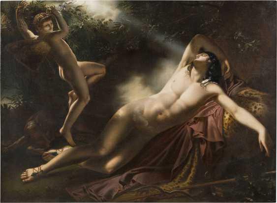 ANNE-LOUIS GIRODET-TRIOSON (KOPIE NACH) 1767 Montargis - 1824 Paris Der Schlaf des Endymion - photo 1
