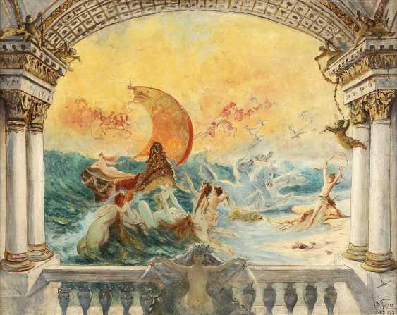 GUSTAV WERTHEIMER 1847 Wien - 1902 Paris Triumph der Amphitrite; wohl Studie zu einer Wandmalerei - фото 1