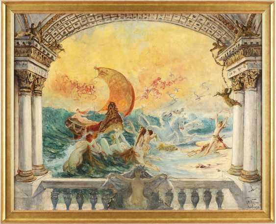 GUSTAV WERTHEIMER 1847 Wien - 1902 Paris Triumph der Amphitrite; wohl Studie zu einer Wandmalerei - фото 2