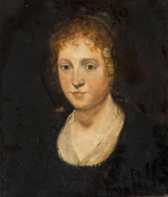 NIEDERLÄNDISCHER PORTRÄTIST Tätig Mitte 19. Jahrhundert Damenporträt im Altmeister-Stil - photo 1