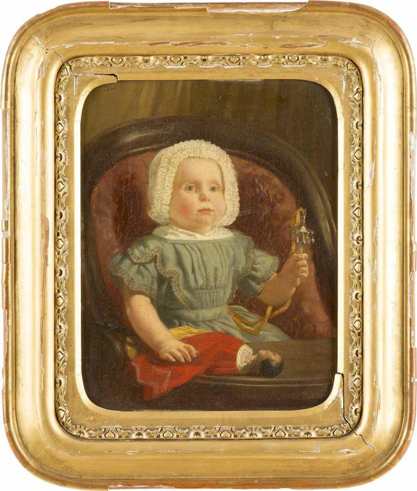 JACOB SPOEL 1820 Rotterdam - c. 1868 ebenda Kinderporträt des Adriaan van Oordt - photo 2
