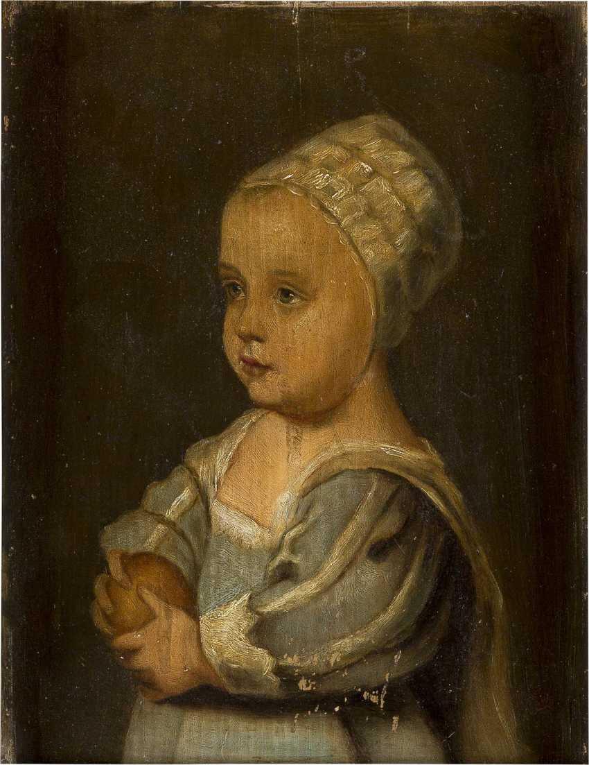 MONOGRAMMIST AB Tätig 1. Hälfte 20. Jahrhundert Kinderporträt - photo 1
