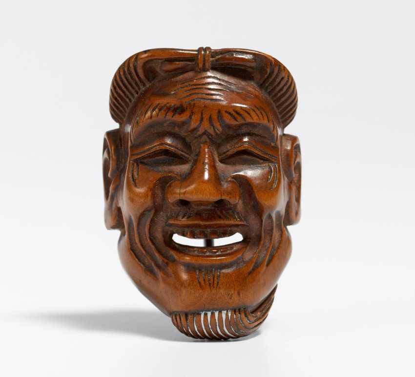 Netsuke: Maske eines alten Manns (Kojo) - photo 1