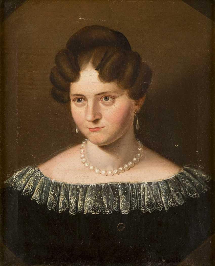 DEUTSCHER PORTRÄTMALER Tätig um 1920 Porträt der Auguste Brinkmann - photo 1