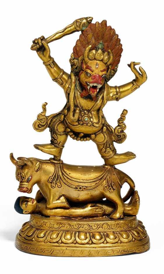 Yama Dharmaraja with sword - photo 1