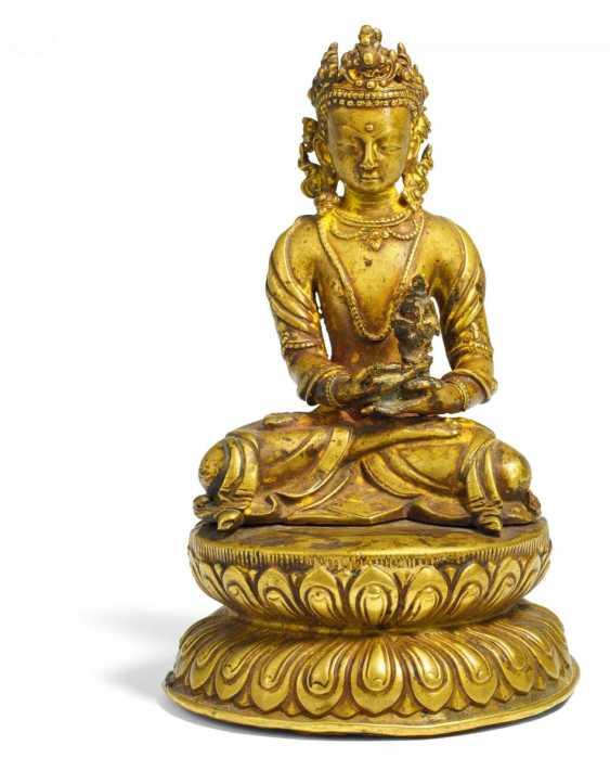 Extraordinary figure of the Buddha Amitayus - photo 1