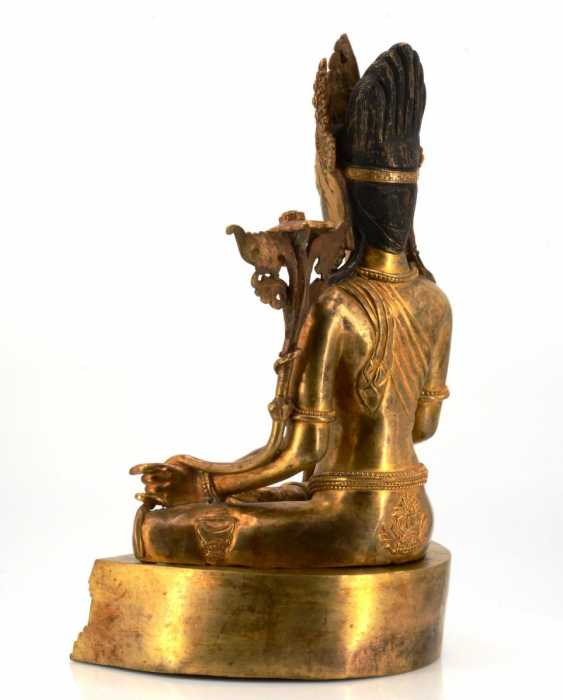 Rare and large figure of the Bodhisattva Padmapani - photo 4