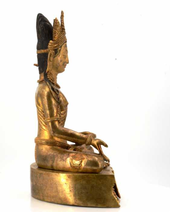 Rare and large figure of the Bodhisattva Padmapani - photo 7