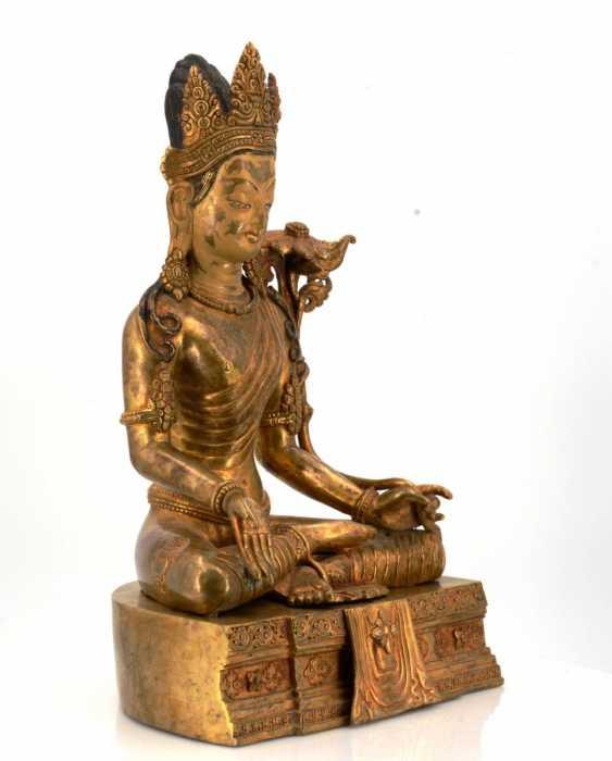 Rare and large figure of the Bodhisattva Padmapani - photo 8