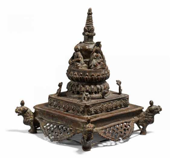Rare stupa with the four Tathagata Buddha - photo 1
