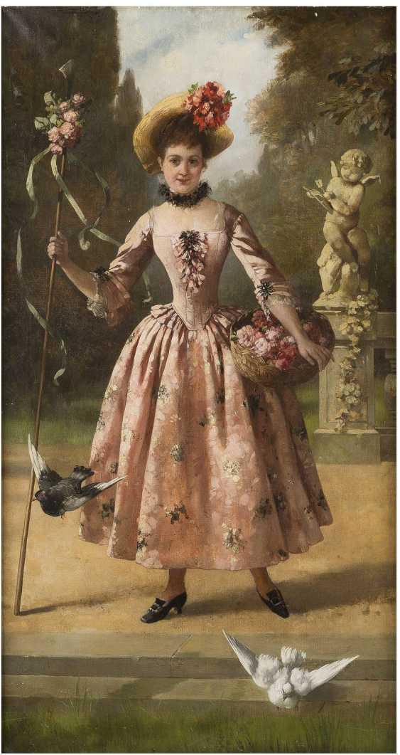 SOPHIE MEYER 1847 Köslin - 1921 Düsseldorf Blumenträgerin im Lustgarten - photo 1