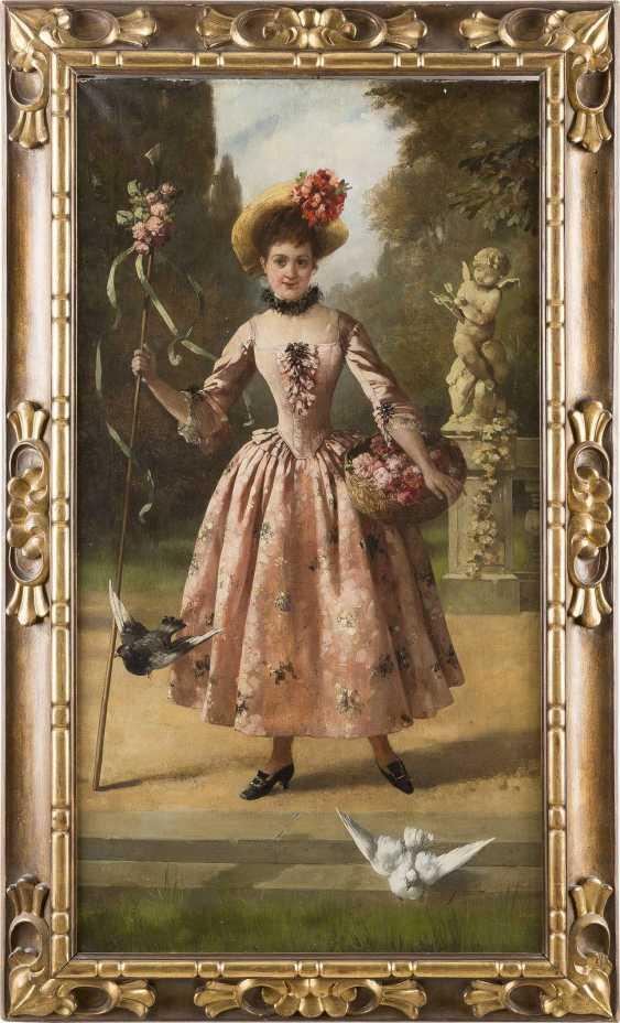 SOPHIE MEYER 1847 Köslin - 1921 Düsseldorf Blumenträgerin im Lustgarten - photo 2
