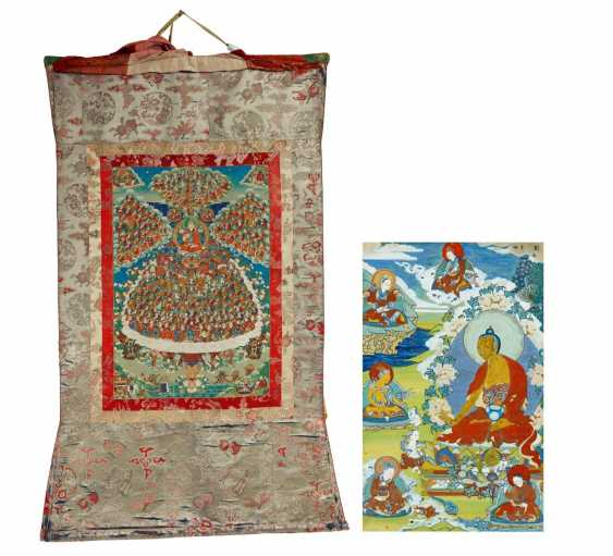 Large thangka of the refuge tree of Gelugpa school with founder Tsongkhapa - photo 1