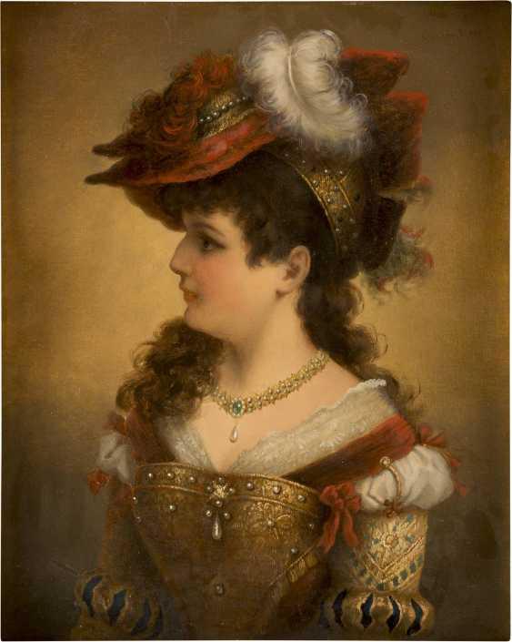 CREMONT Tätig um 1880 Junge Dame in historischem Gewand - photo 1