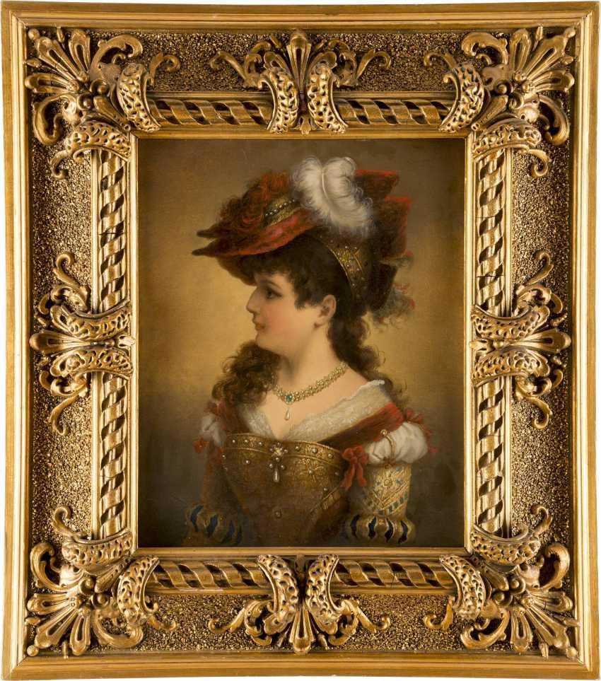 CREMONT Tätig um 1880 Junge Dame in historischem Gewand - photo 2
