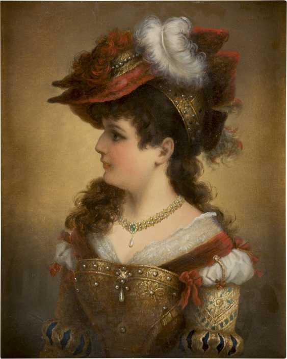 CREMONT Tätig um 1880 Junge Dame in historischem Gewand - photo 3