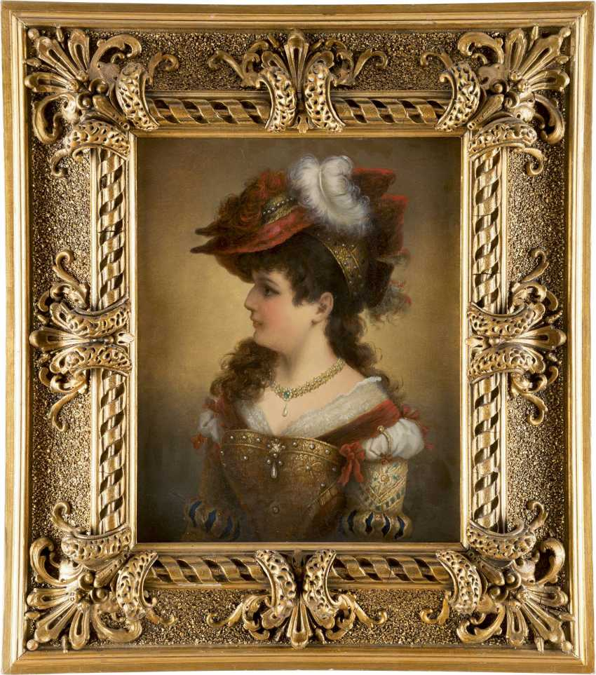 CREMONT Tätig um 1880 Junge Dame in historischem Gewand - photo 4