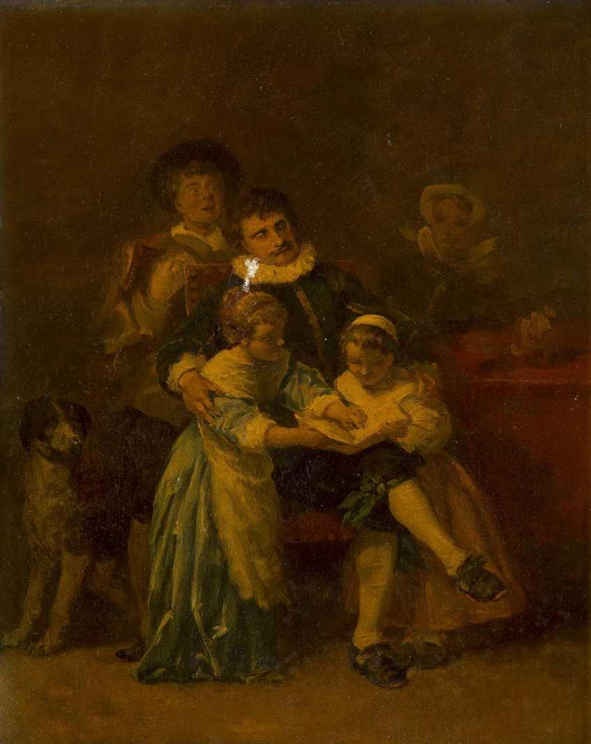 ALEXANDER VON LIEZEN-MAYER 1839 Raab (Ungarn) - 1898 München, zugeschrieben 'Familienszene' - Studie einer musizierenden Familie - photo 1