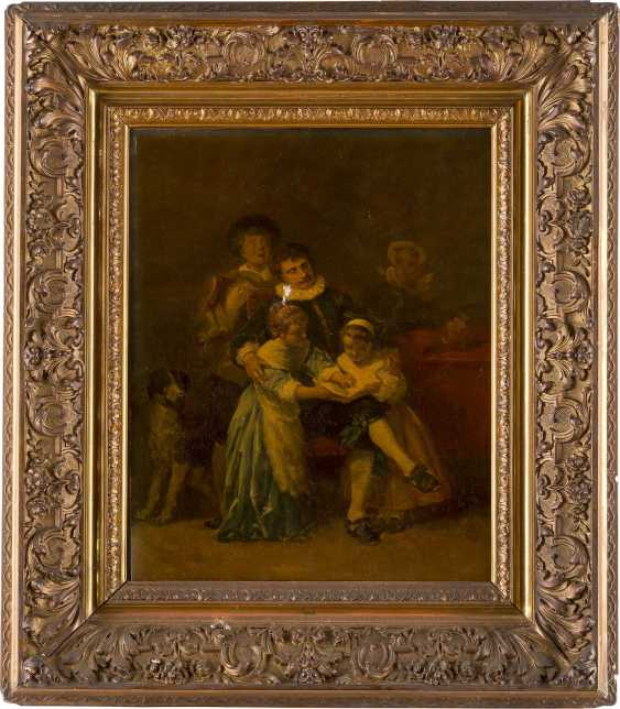 ALEXANDER VON LIEZEN-MAYER 1839 Raab (Ungarn) - 1898 München, zugeschrieben 'Familienszene' - Studie einer musizierenden Familie - photo 2
