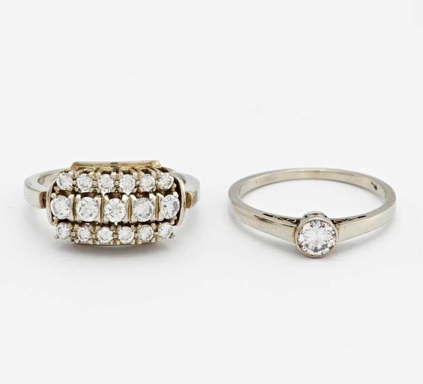 Mixed lot: two diamond rings - photo 1