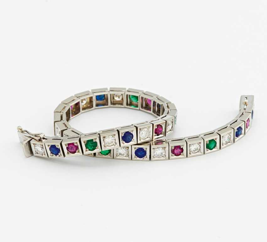 Color stone and diamond bracelet - photo 1