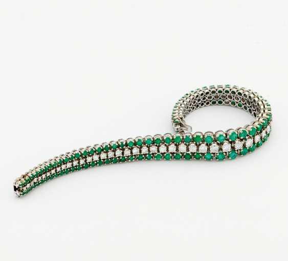 Emerald Diamond Bracelet - photo 1