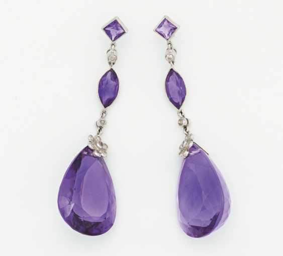 Amethyst earrings - photo 1