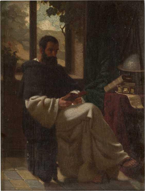 WILHELM RÖGGE (ATTR.) 1829 Osterkappeln (Osnabrück) - 1908 München Dominikanermönch bei der Lektüre - photo 1