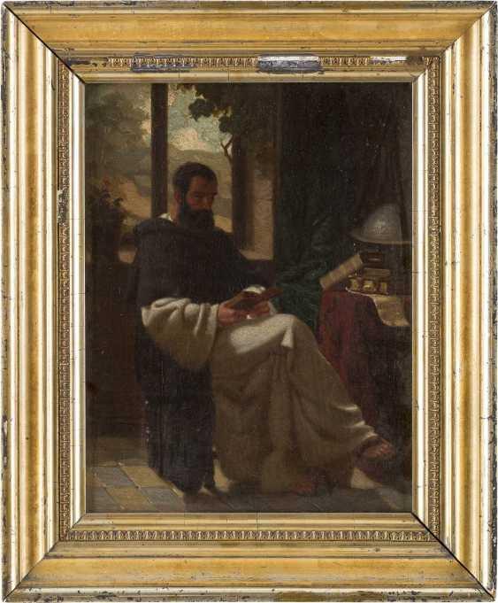 WILHELM RÖGGE (ATTR.) 1829 Osterkappeln (Osnabrück) - 1908 München Dominikanermönch bei der Lektüre - photo 2
