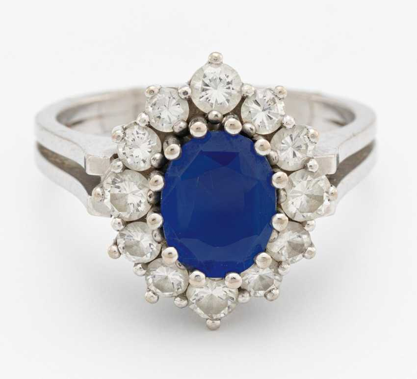 Sapphire-Diamond-Ring - photo 1