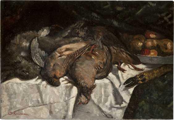 A. LAURENZ Tätig 2. Hälfte 19. Jahrhundert Jagdstillleben mit Fasanen - photo 1