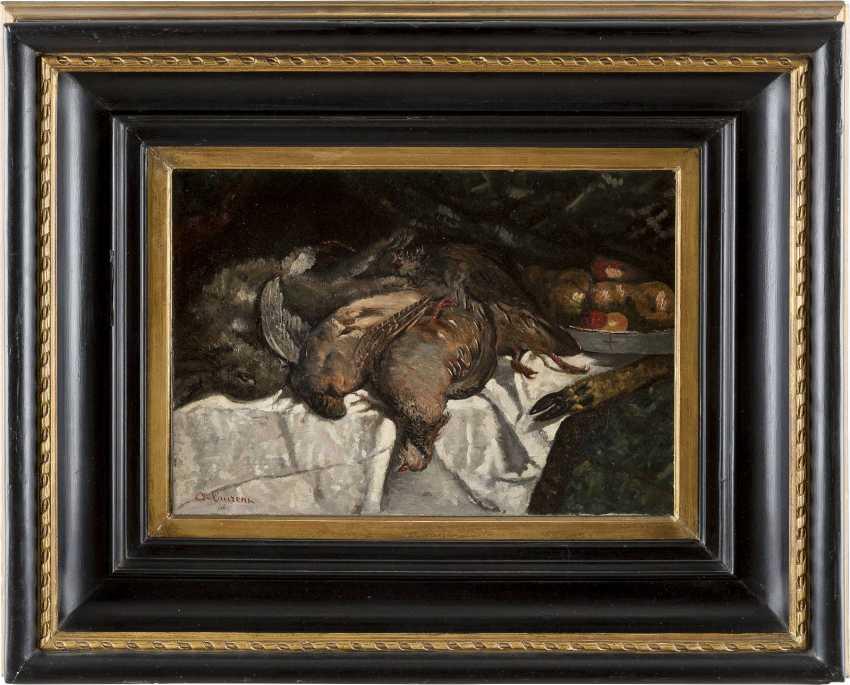 A. LAURENZ Tätig 2. Hälfte 19. Jahrhundert Jagdstillleben mit Fasanen - photo 2