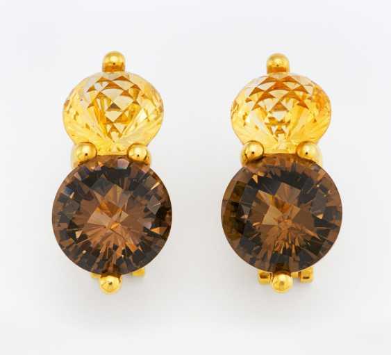 Color stone earrings - photo 1
