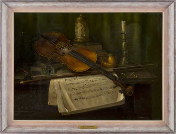 CHARLES ALFRED MEURER 1865 - 1955 (tätig in USA) Stillleben mit Violine - photo 2