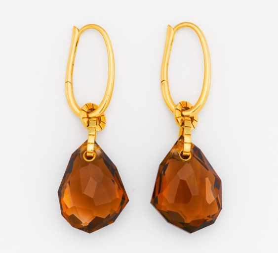 Smoky quartz earrings - photo 1
