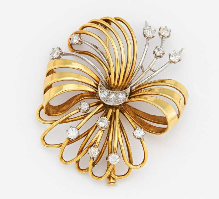 Diamond brooch - photo 1