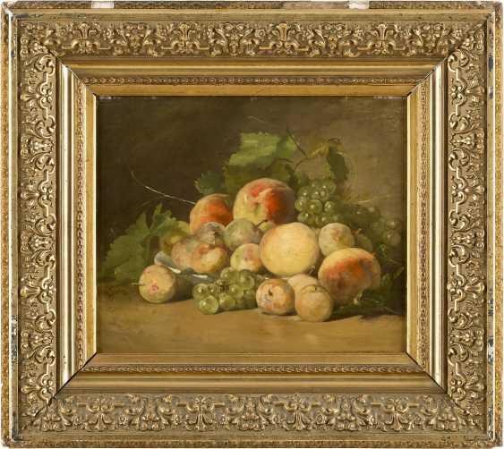 CLARA VON SIVERS 1854 Pinneberg - 1924 Berlin Zwei Früchtestilleben mit Trauben, Äpfeln, Birnen und Pfirsichen - photo 2