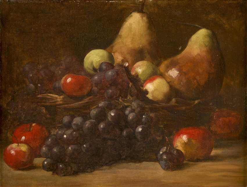 CLARA VON SIVERS 1854 Pinneberg - 1924 Berlin Zwei Früchtestilleben mit Trauben, Äpfeln, Birnen und Pfirsichen - photo 3