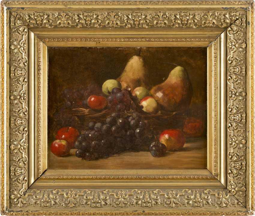 CLARA VON SIVERS 1854 Pinneberg - 1924 Berlin Zwei Früchtestilleben mit Trauben, Äpfeln, Birnen und Pfirsichen - photo 4