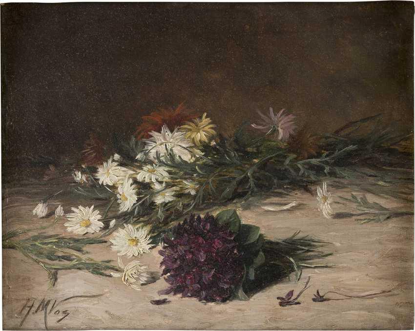 H M VOS Tätig 1. Hälfte 20. Jahrhundert Zerstreutes Bouquet Wildblumen - photo 1