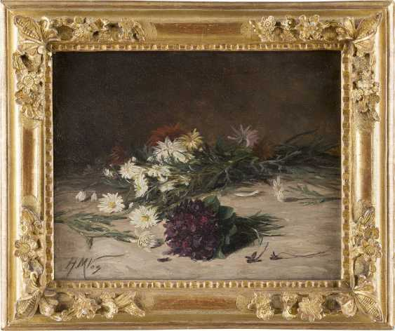 H M VOS Tätig 1. Hälfte 20. Jahrhundert Zerstreutes Bouquet Wildblumen - photo 2