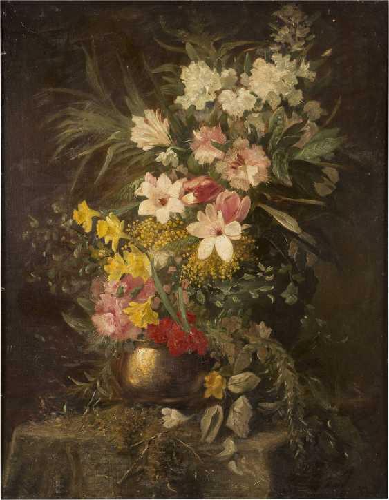 DIRK GERARD EZERMAN 1848 - 1913 Blumenstillleben - photo 1