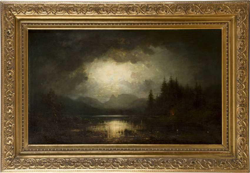 TOBIAS ANDREAE 1823 - 1873 Mondnacht am Chiemsee - photo 2