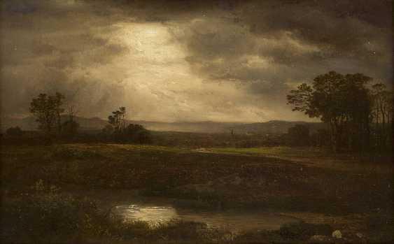 A. WEBER Tätig um 1890 Niederrheinische Landschaft - photo 1