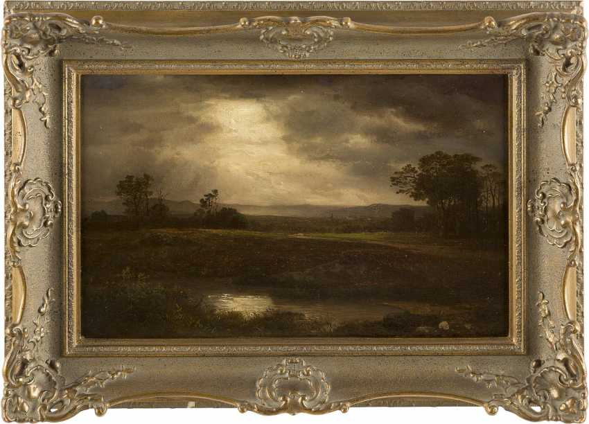 A. WEBER Tätig um 1890 Niederrheinische Landschaft - photo 2