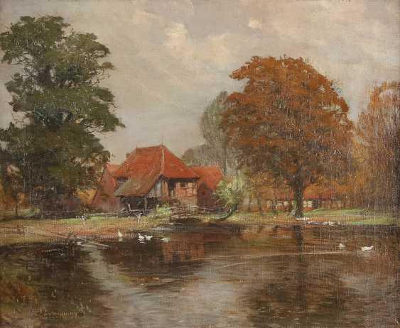 FRITZ GROTEMEYER 1864 Münster - 1947 Ebenda Sommerliches Landhaus am See - photo 1