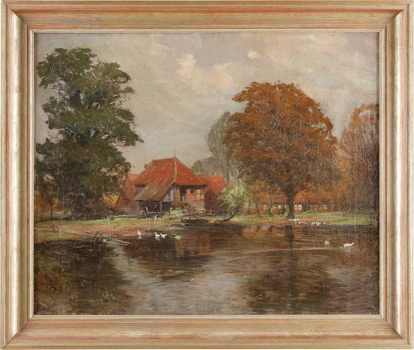 FRITZ GROTEMEYER 1864 Münster - 1947 Ebenda Sommerliches Landhaus am See - photo 2