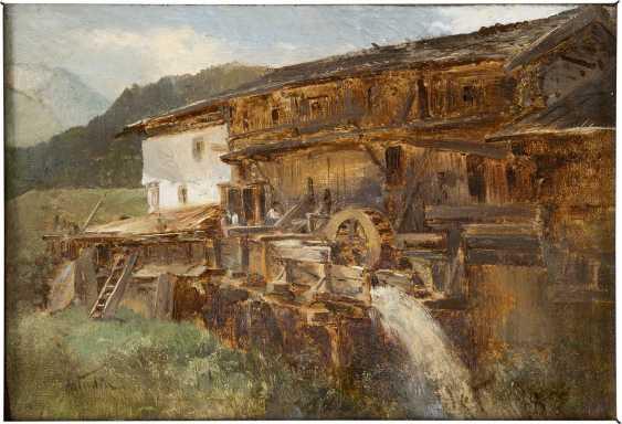 NICOLAI VON ASTUDIN 1847/49 Moskau - 1925 Oberlahnstein Gehöft mit Wassermühle - photo 1