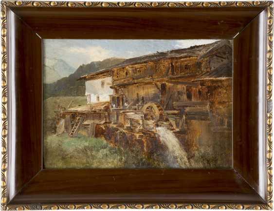 NICOLAI VON ASTUDIN 1847/49 Moskau - 1925 Oberlahnstein Gehöft mit Wassermühle - photo 2