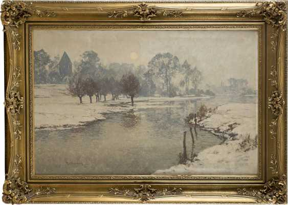 MAX CLARENBACH 1880 Neuss - 1952 Wittlaer Winterlandschaft - photo 2